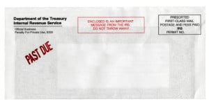 Important IRS Notice Envelope
