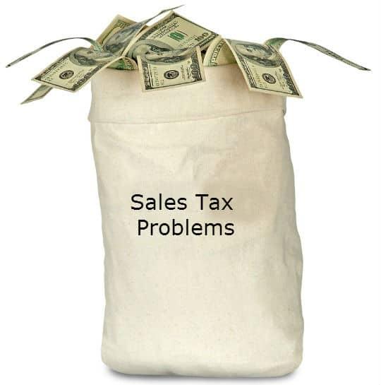 sales tax Problems